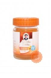 Оранжевый тайский бальзам от воспалений мышц.