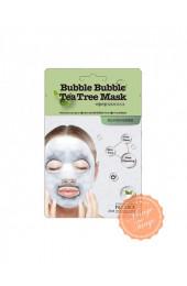 Кислородная тканевая маска с экстрактом чайного дерева Clear Bubble Charcoal Mask.