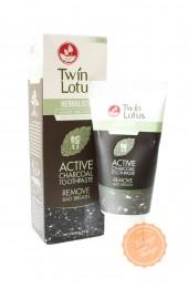 Растительная зубная паста с бамбуковым углём Твин Лотос. Twin Lotus Active Charcoal Toothpaste.
